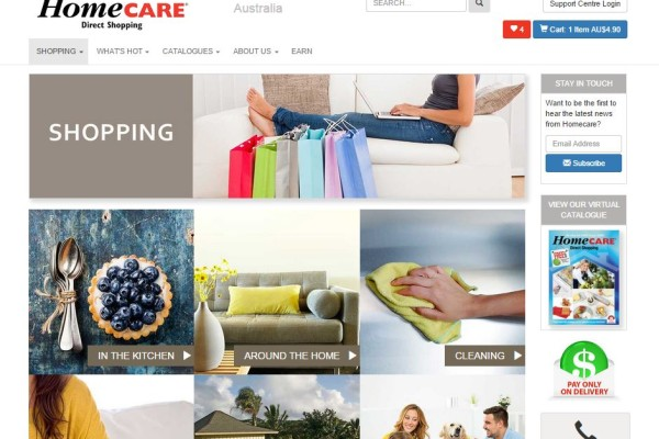 Homecare Website Desktop View