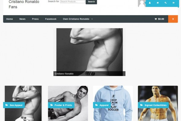 Cristano Ronaldo Woocommerce Shopping Site