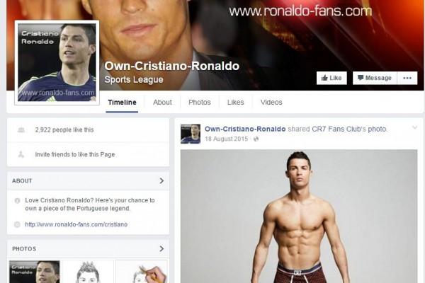 Own Cristano Ronaldo Facebook Page